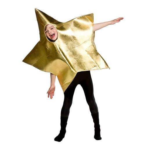 Childrens Deluxe 2 Sided Nativity Star Costume Unisex Christmas Fancy Dress